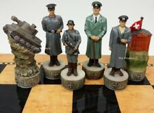 World War 2 US vs GERMANY Set Chess Men Pieces ww2 - NO BOARD
