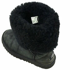 Ugg Australia Girls Kids Classic Tall 5229 Shearling Boots Black Sz.3 Usa.Eur.33