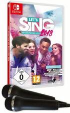 Let's Sing 2018 mit deutschen Hits - 2 Mirkrofone Bundle (Nintendo Switch, 2017)