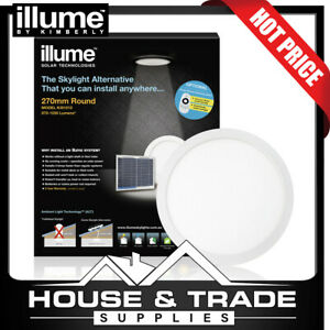 Illume Skylight Alternative 270mm Round Roof Solar WHITE FRAME KIS1012