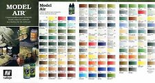 Vallejo Model Air 17ml (100ml=14,71€) wählen Sie aus 217 Airbrush Farben aus!