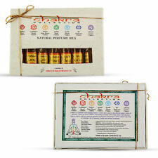 Chakra Natural Perfume Oil Gift Set Containing 7 Bottles Each Have 3ml