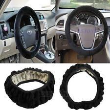 Winter Warm Car Accessory Solid Grips Soft Plush Steering Wheel Cover Case