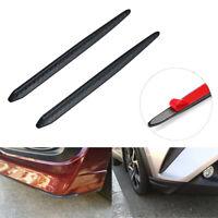 Universal Car Carbon Fiber Black Strip Bumper Body Corner Protector Guard Strips