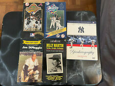 FOUR New York Yankee VHS Tapes and a DVD USED OPEN