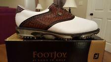 2015 Footjoy Dryjoys Tour Mens Golf Shoes 53612 New Wh/Brn 13M $249 Ret Mint!