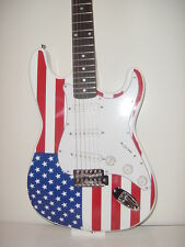 New listing Full Size Strat Style 6 String Us American Flag Electric Guitar with Gig Bag