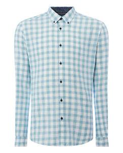 REMUS UOMO Size XLarge Cotton Linen Blend Slim Fit Shirt RRP £55.00 - 17758/13