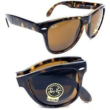 RAY-BAN Sunglasses FOLDING WAYFARER Tortoise RB4105 710 Brown Lenses 54mm B-15