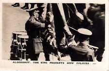 P.C King George V Presents New Colours Aldershot Hampshire R P
