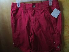 NWT  White Stag 100% Cotton flat solid Red Casual Short 6