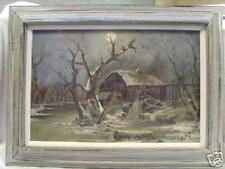 MYSTERY OIL PAINTING ON BOARD SIGNED R. OR J.A. FLECK