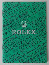 ROLEX Translation Booklet 1994  565.00.300.1.94 Traducción PRESIDENT DATEJUST