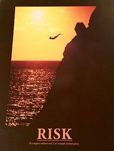 RISK Motivational Inspirational Art Wall Poster 8x10 Print NIP