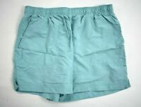Columbia Womens Blue Flat Front Elastic Waist Pocket Zip Hiking Casual Shorts M
