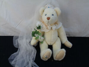 "Collection Bride Bear Artist Christy Firmage Funicello 14"" Bear(OAW26)"
