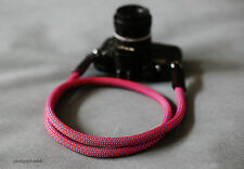 COOL RED Climbing rope 10.5mm  handmade Camera neck strap Generic SLR/DSLR