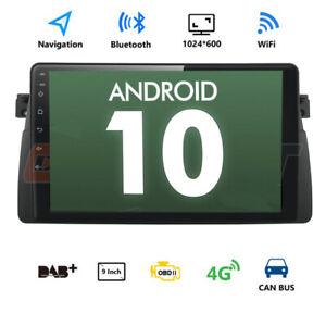 "9"" Android 10 Autoradio USB GPS Navi WLAN Qualcomm BT5.0 Für BMW E46 M3 325 3er"