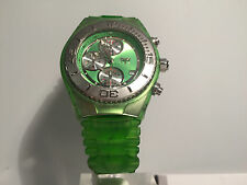 New - Reloj Watch TECHNOMARINE Cruise Green Chrono 38mm Ref. CSX08 Box & Papers