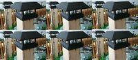 6 Kits Black New Outdoor Garden Solar Panel Post Deck Cap Light