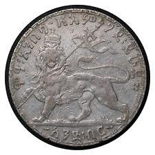 1 Birr 1903 Ethiopia Silver Coin  Menelik II Rasta Lion Raised Head # 19 From 1$