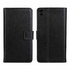 Leather Mobile Phone Wallet Cases with Card Pocket for Sony Xperia Z3