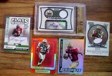 Leon Washington= 2006 Rookie x6 RCs= Sterling Jersey/Autograph BGS 9.5 + 5 More!