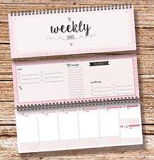 """""""My Weekly Planer rosa"""" Tischkalender Jahresplaner mit 52 Wochen Kalender"""