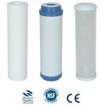 """L62 6 sets 10"""" aquarium pond HMA filters sediment GAC carbon cto"""
