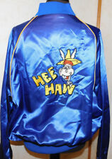 Rare Vintage HEE HAW Embroidered Satin Bomber Jacket  Collectible L