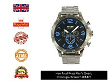Reloj Cronógrafo nuevo Fossil Nate Para Hombre de cuarzo JR1478 Reino Unido Stock Envío rápido