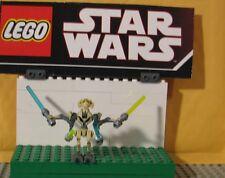 "STAR WARS LEGO MINIFIGURE--MINI FIG--"" GENERAL GRIEVOUS ---9515  "" W/SABERS"