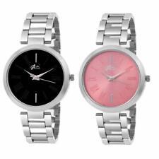 Men Women Couples Black Pink Bracelet Band Analog Quartz Wrist Watch