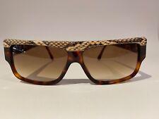 Nos 1980s Vintage Emmanuelle Khanh 10640 Exotic Snake Skin Sunglasses France