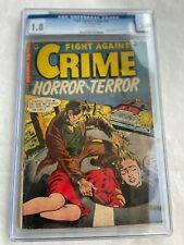 Fight Against Crime 20 CGC 1.8 Classic Decapitation Cover- Key Pre Code Horror