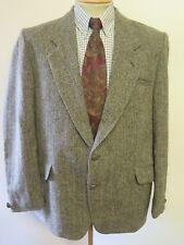 """Genuine Harris Tweed MEN'S green Herringbone Blazer 44"""" R euro 54 R"""