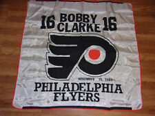 RARE VINTAGE BOBBY CLARKE BANNER PHILADELPHIA FLYERS NHL HOCKEY November 15 1984