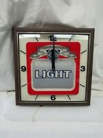 RARE BUDWEISER LIGHT BUD LIGHT ELECTRIC CLOCK WITH LIGHT
