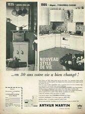 G- Publicité Advertising 1965 Mobilier meubles de cuisine Arthur Martin