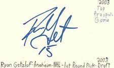 Ryan Getzlaf Anaheim Nhl 1st Round Pick Autographed Signed Index Card Jsa Coa