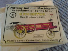 Nittany Antique Machinery Assn. Spring Show 2003 Dash Plaque Center Hall Pa.