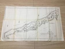 1898 Sketch Map of 1817 St. Lawrence Matilda Madrid Goose Neck Island