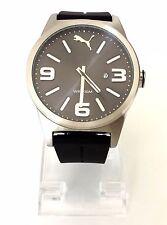 Puma Herren Uhr Instinct schwarz silber Silikon Datum PU104091006