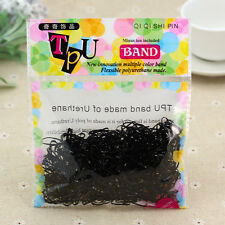 400pcs Women Rubber Hairband Rope Hair Band Ties Ponytail Holder Braids Black