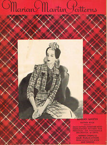 1940s Rare 1944 Marian Martin Mail Order Sewing Pattern Catalog 24pg Ebook on CD