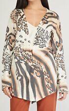 Bonprix Animal Print Dip Front Cardigan Size 3XL - UK 28/30