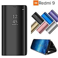 Coque Pour Xiaomi Redmi 9 Étui Flip Original Miroir Coque Slim Transparent View