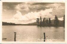 View of Big Bear Lake CA RP Postcard 1946