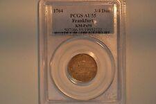 Frankfurt: 1764 3/4 Ducat- PCGS AU-55.  KM-Pn50.  Lovely, original coin.