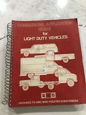 commercial application guide for light duty vehicles Gmc Book 1977